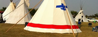 Tipi with eagle